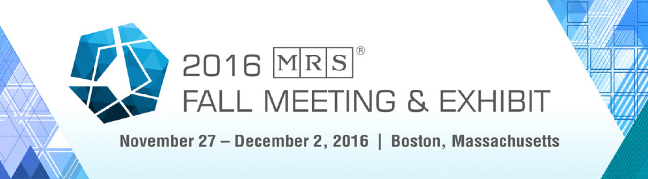 Join us at the 2016 MRS Fall Meeting & Exhibit!